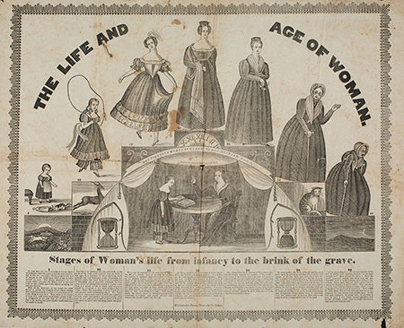 The Life and Age of Woman broadside cover