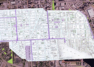 ARCgis: Historic map laid over a satellite map
