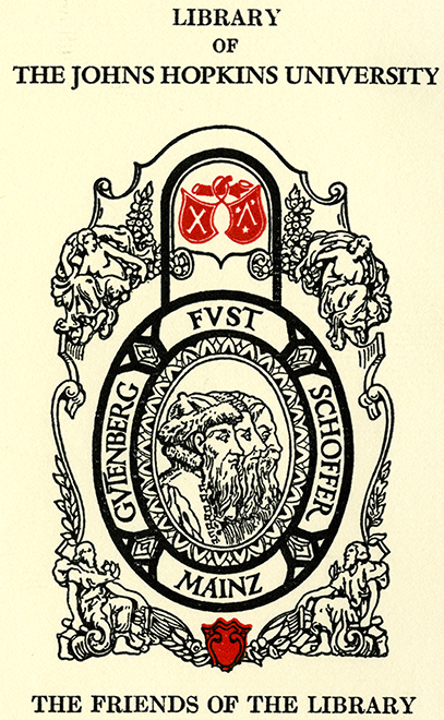 Book plate with Friends of the Library Seal