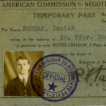 Identification document for Isaiah Bowman