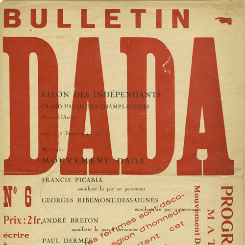 Cover of book titled Bulletin Dada