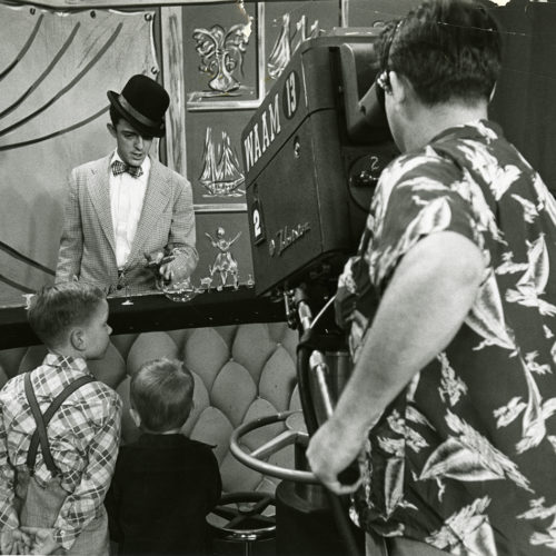 Still from a black and white video