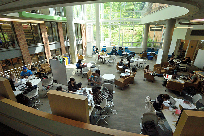 Brody Learning Commons atrium
