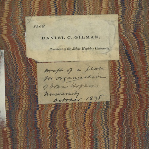 Cover of book handwritten by Daniel Gilman