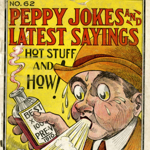 Book cover with title Peppy Jokes and Latest Sayings