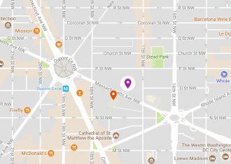 Map to Sheridan Libraries at DC