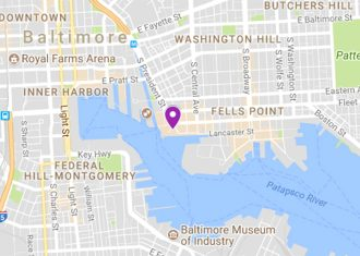 Map to Harbor East Library