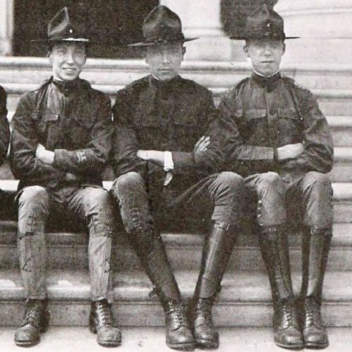Johns Hopkins University students in ROTC uniform in 1918
