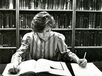 Hopkins student studying