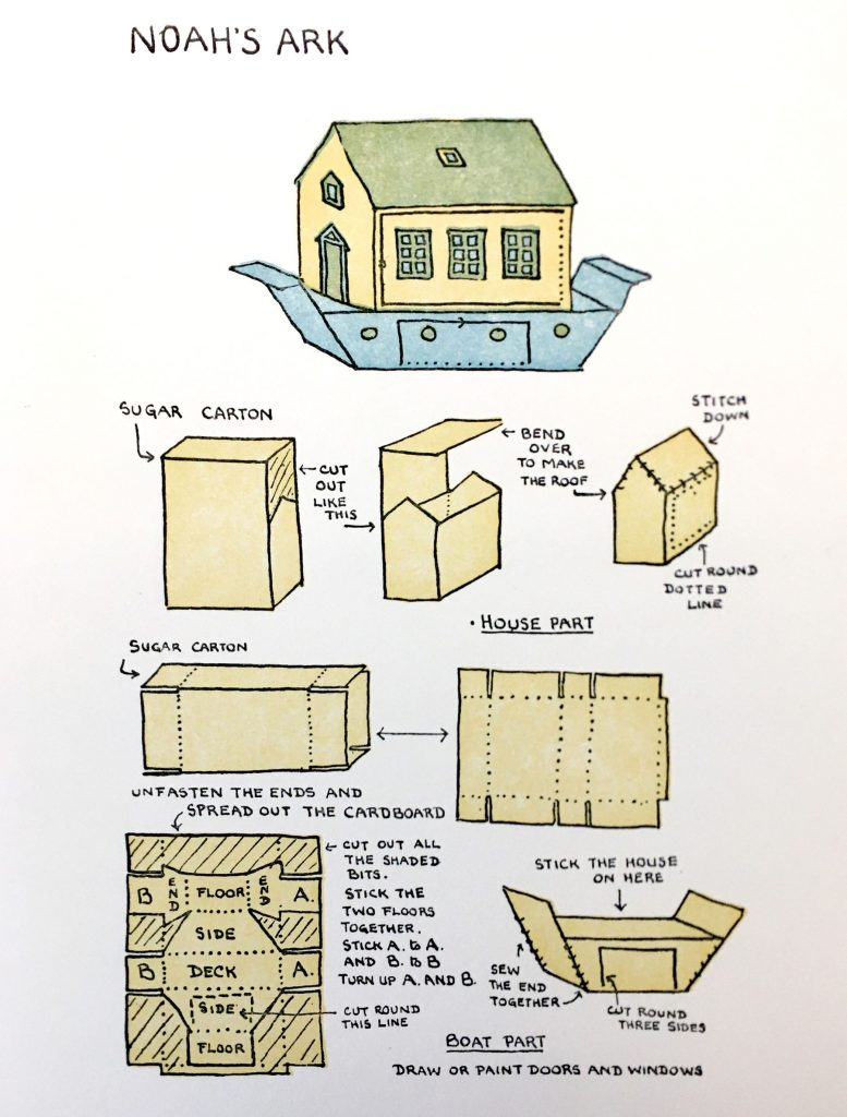 Diagram for making Noah's ark